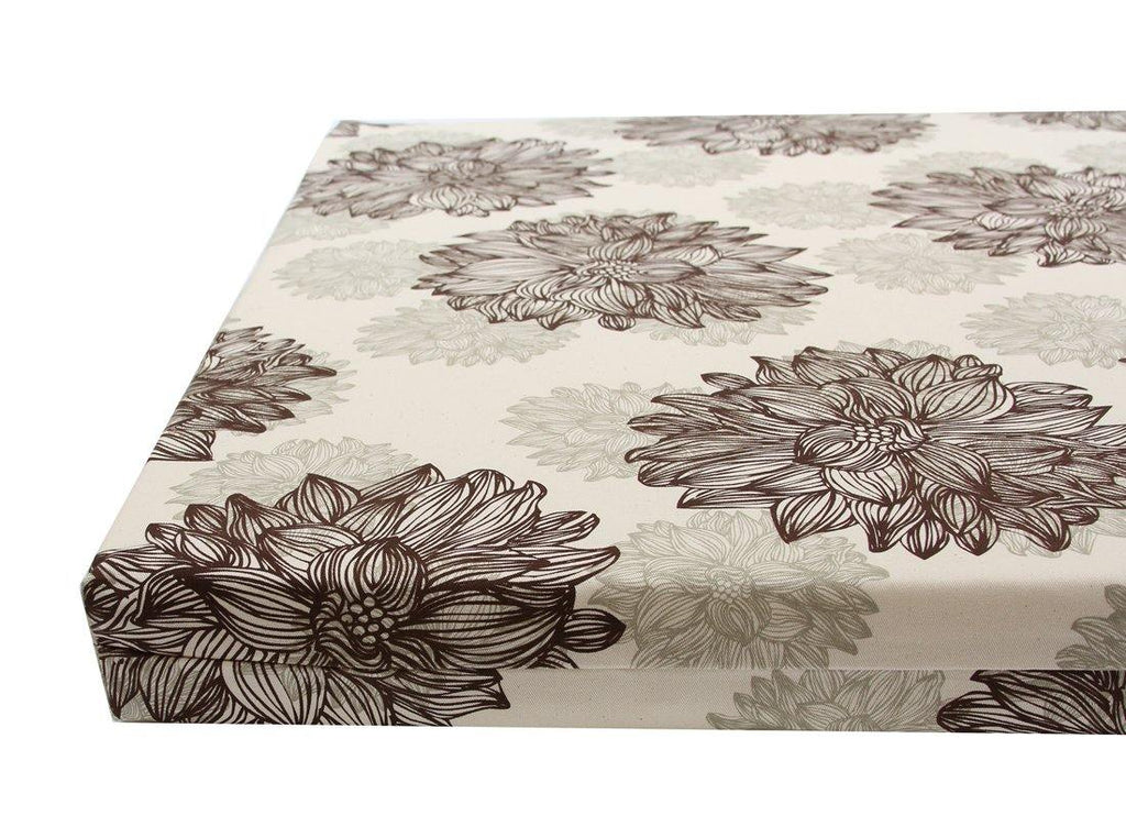 organic orthopedic dog bed close up in floral evelyn print