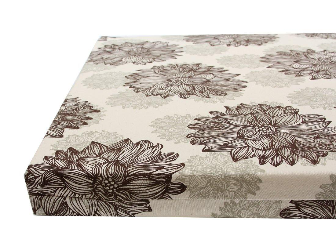 organic cotton orthopedic dog bed cover in evelyn flower print