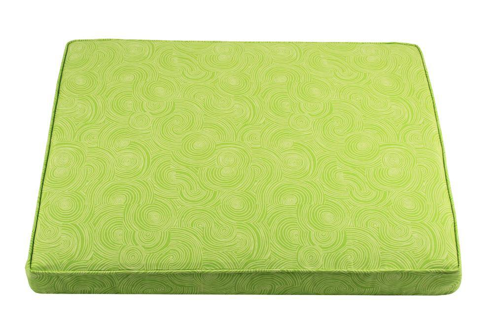 tailored orthopedic dog bed lime pattern