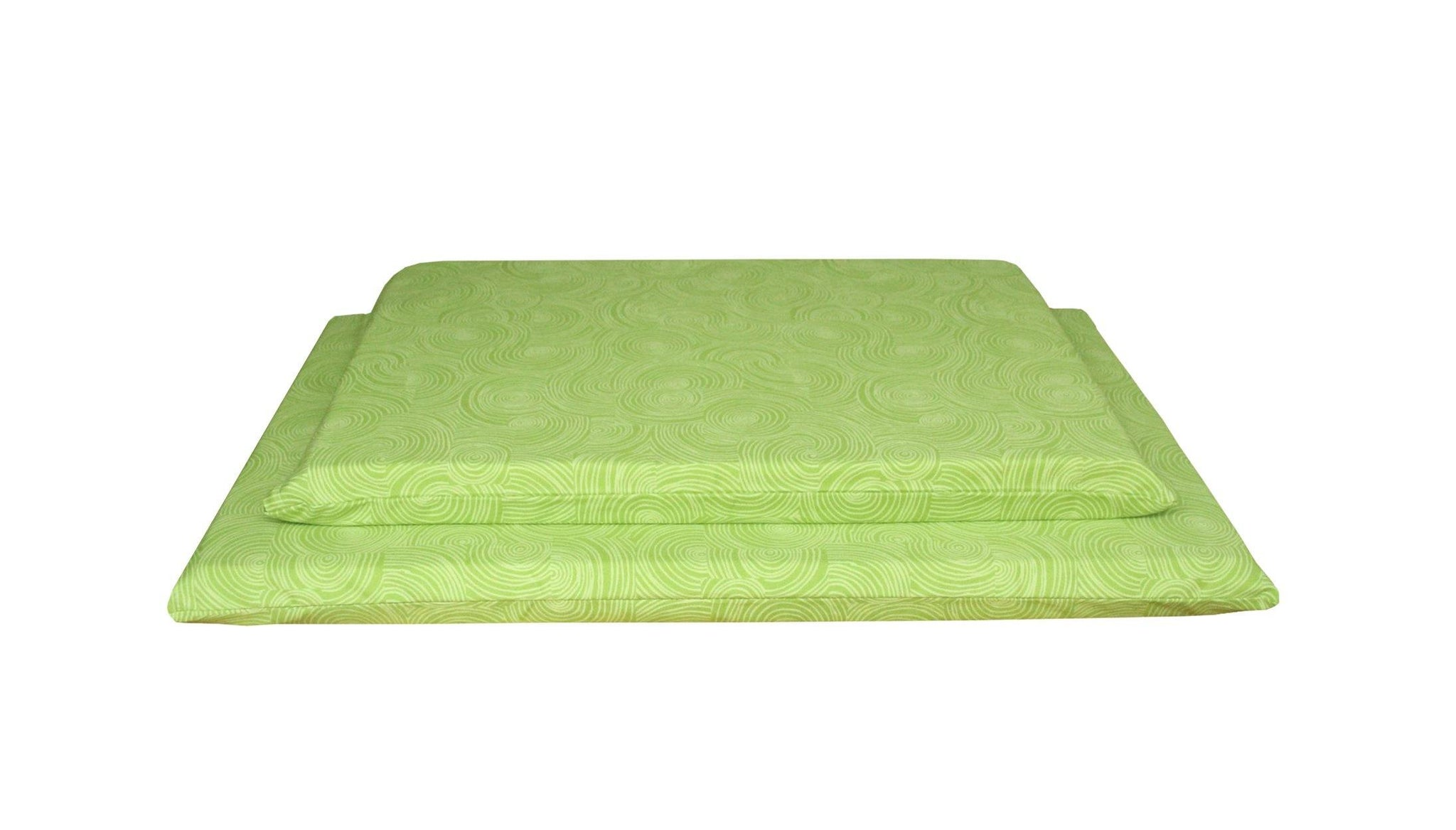 organic cotton orthopedic dog bed lime