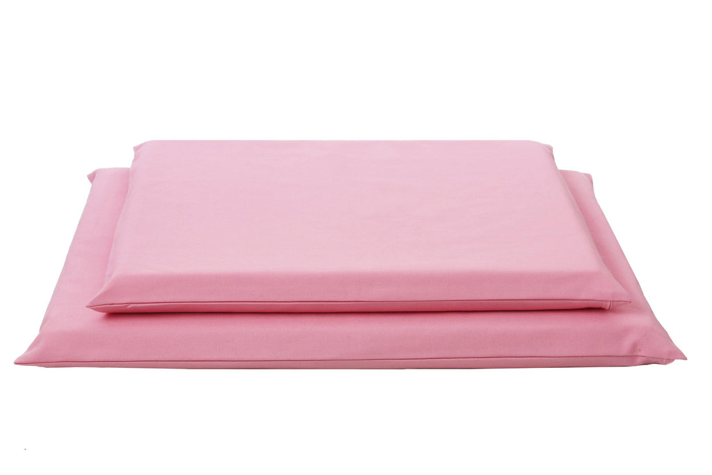 pink organic dog mats in 2 sizes