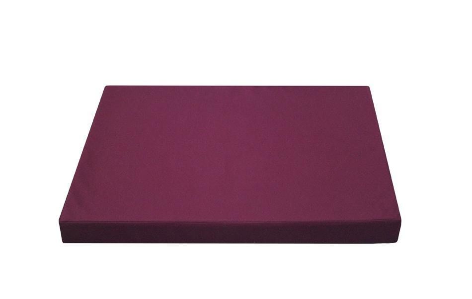 latex orthopedic dog bed in cherry