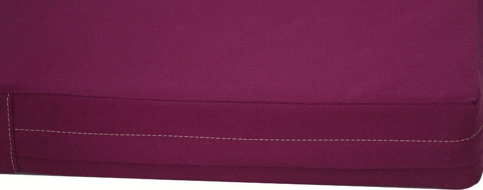 organic cotton dog bed cover in cherry close up