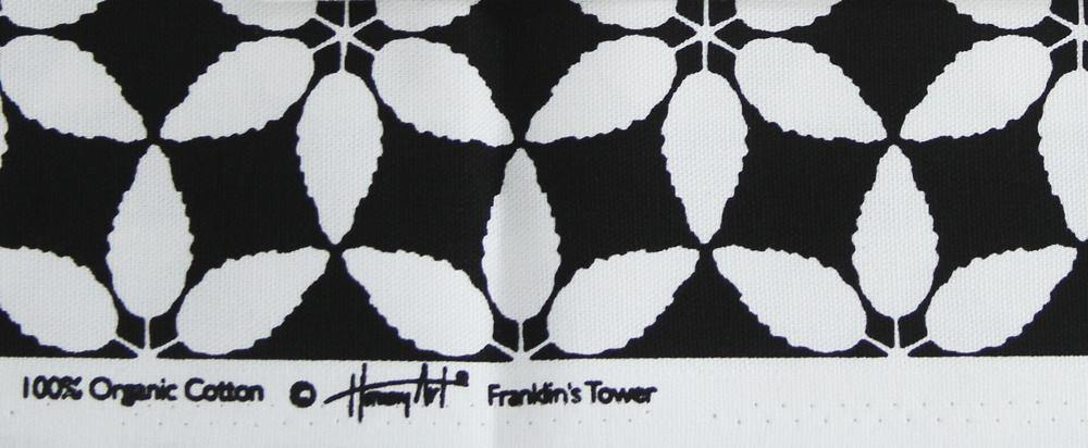 organic cotton black white fabric close up