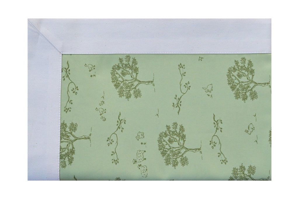sage green dog proof coverlet