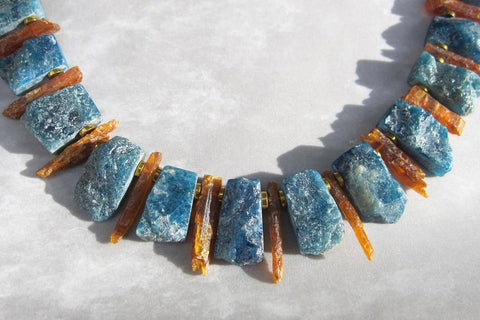 Apatite, Kyanite, + Copper