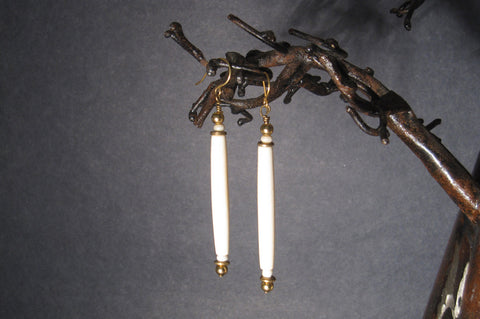 Bone + Brass Earrings
