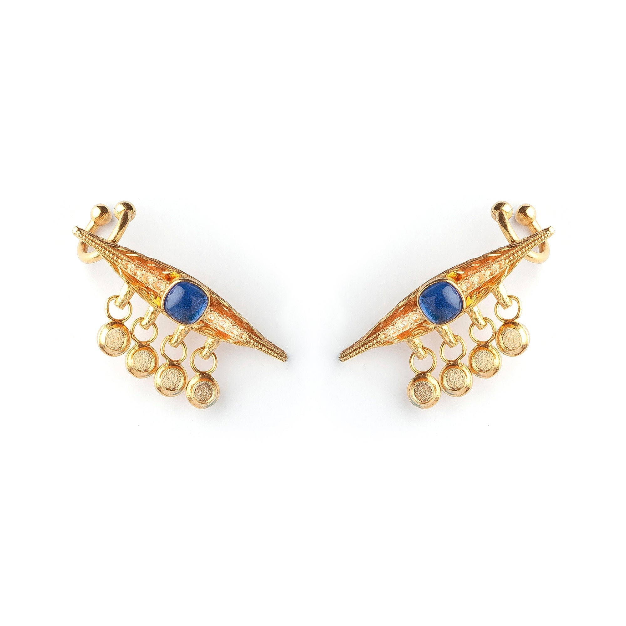 Sapphire Eye Luxury Earrings