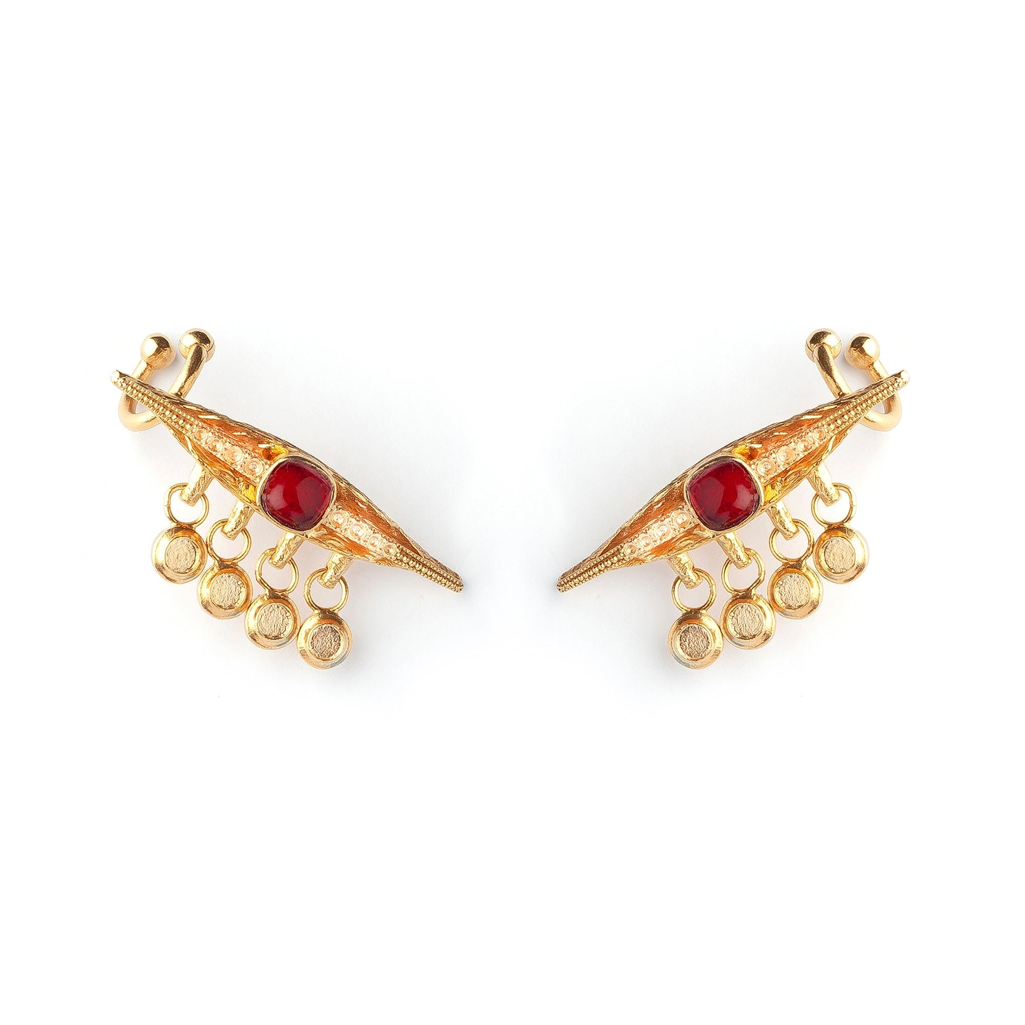 Ruby Eye Luxury Earrings