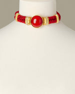 Load image into Gallery viewer, Red Aries Costume Statement Necklace