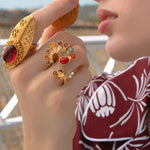 Load image into Gallery viewer, Seahorse Short Luxury Ring