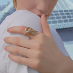 Load image into Gallery viewer, Gold Swan Luxury Ring