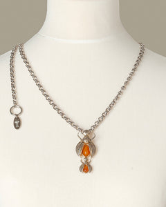 Silver Scarab Luxury Necklace