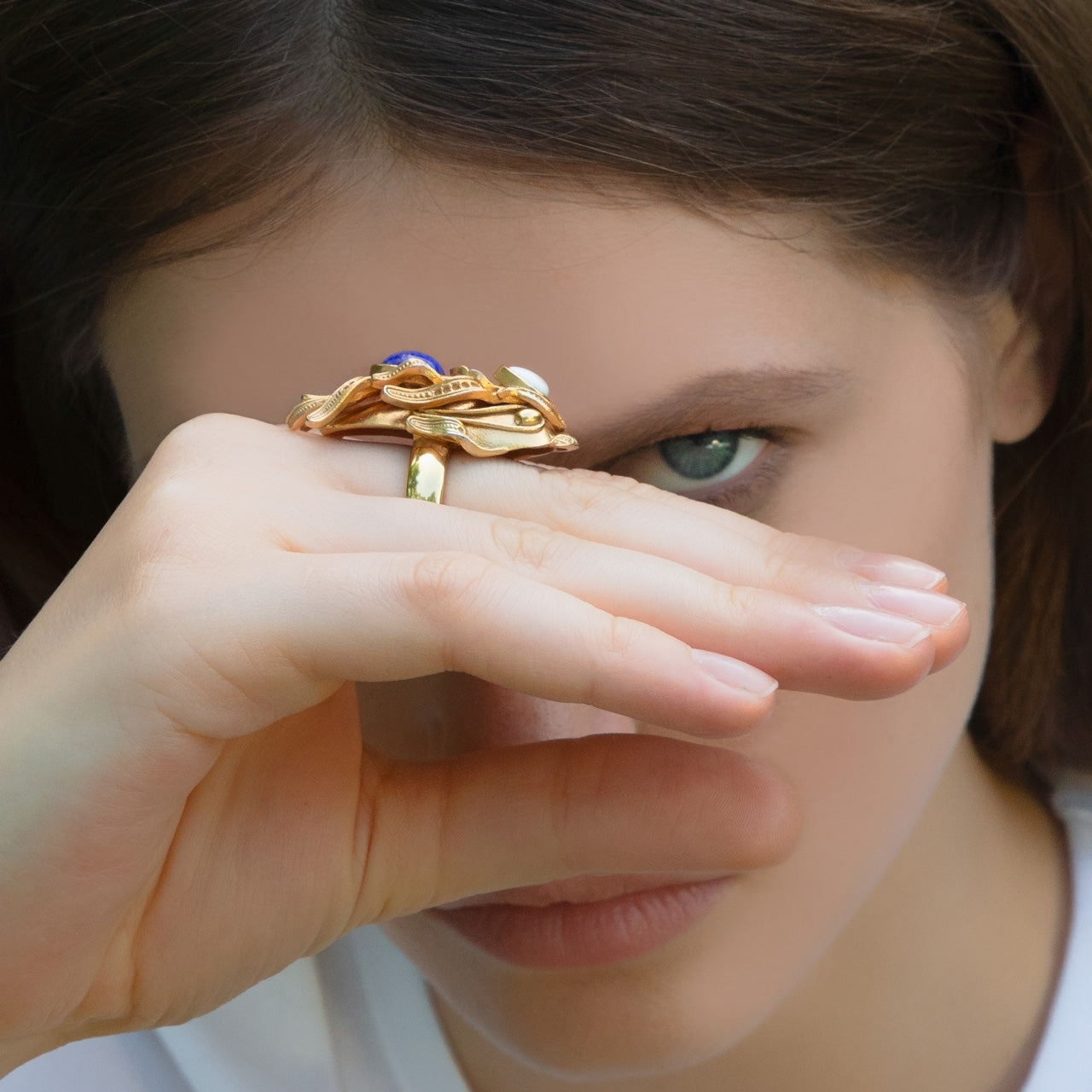 Gold Dragonfish Luxury Ring