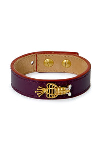 PRE-ORDER FOR NOVEMBER 25th Lobster Bracelet Leather - Purple