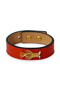 Lobster Bracelet Leather - Red