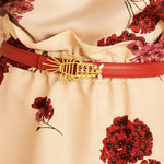 Load image into Gallery viewer, Lobster Belt Narrow Red