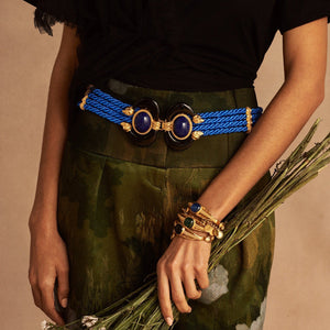Blue Twisted Aries Statement Belt