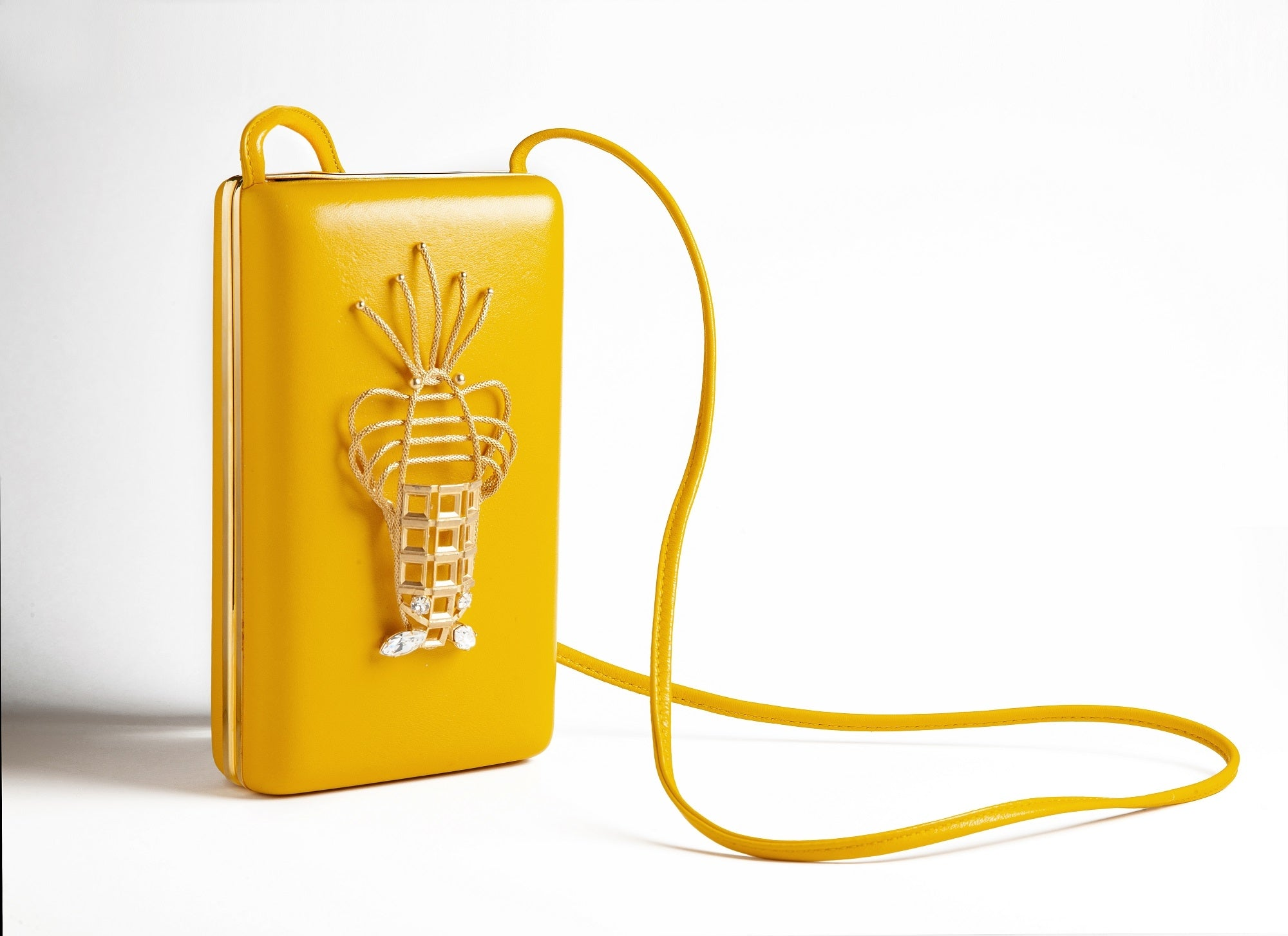 Yellow Lobster Luxury Handbag