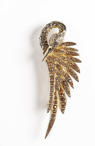 Gold Swan Costume Brooch