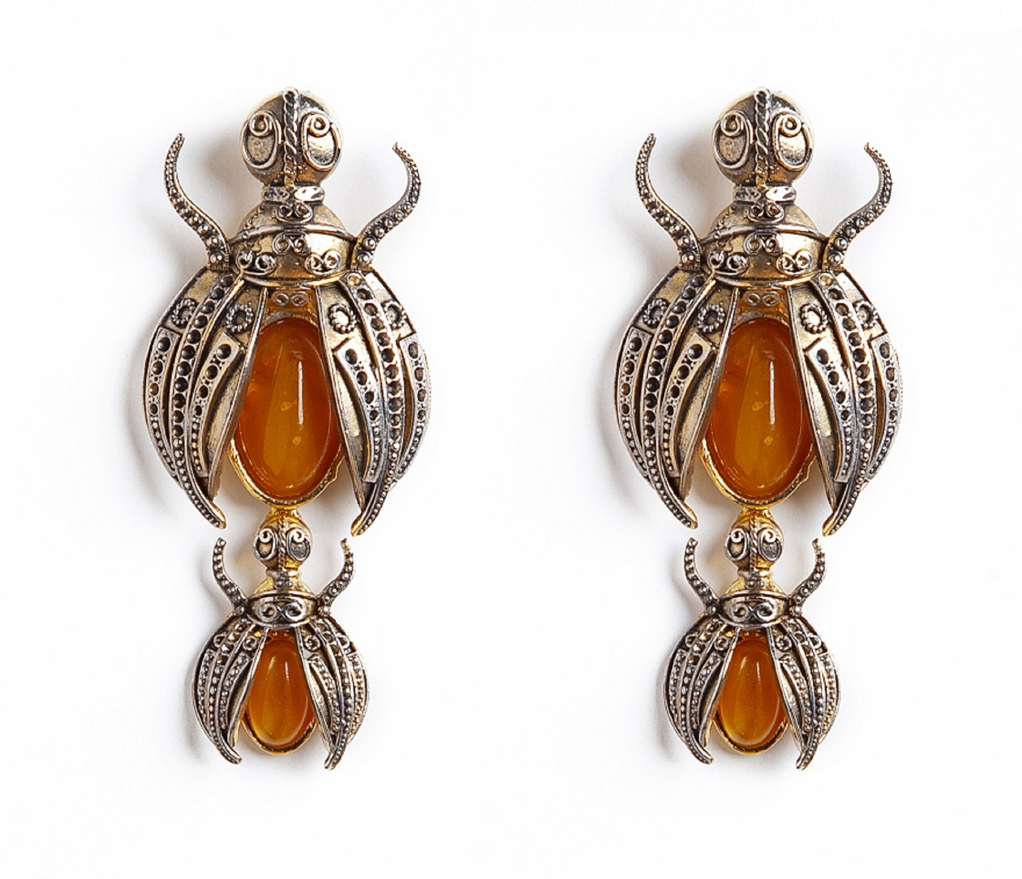 Scarab Luxury Earrings Clip