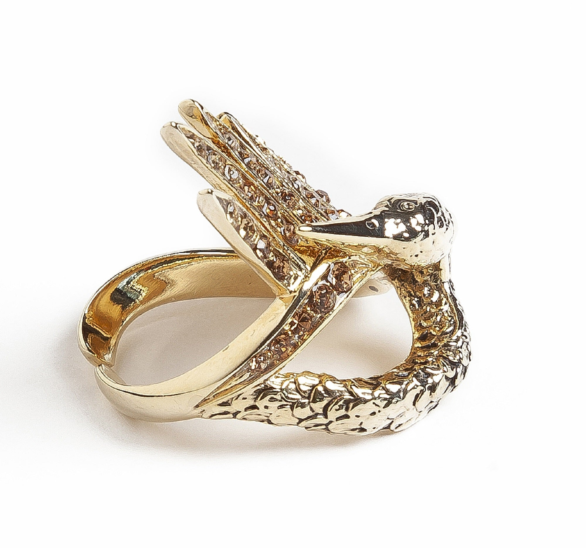 Gold Swan Luxury Ring