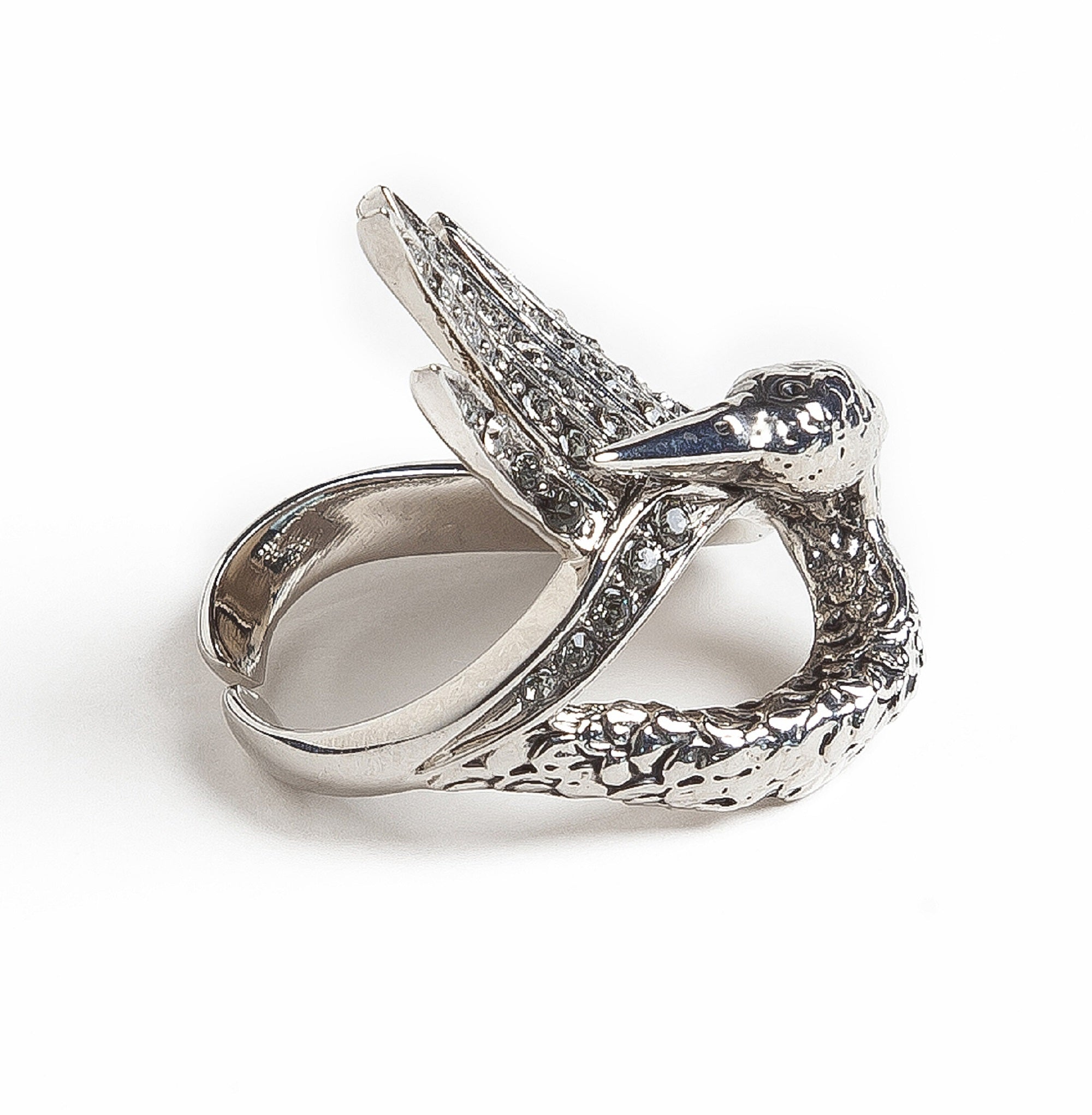 Silver Swan Luxury Ring