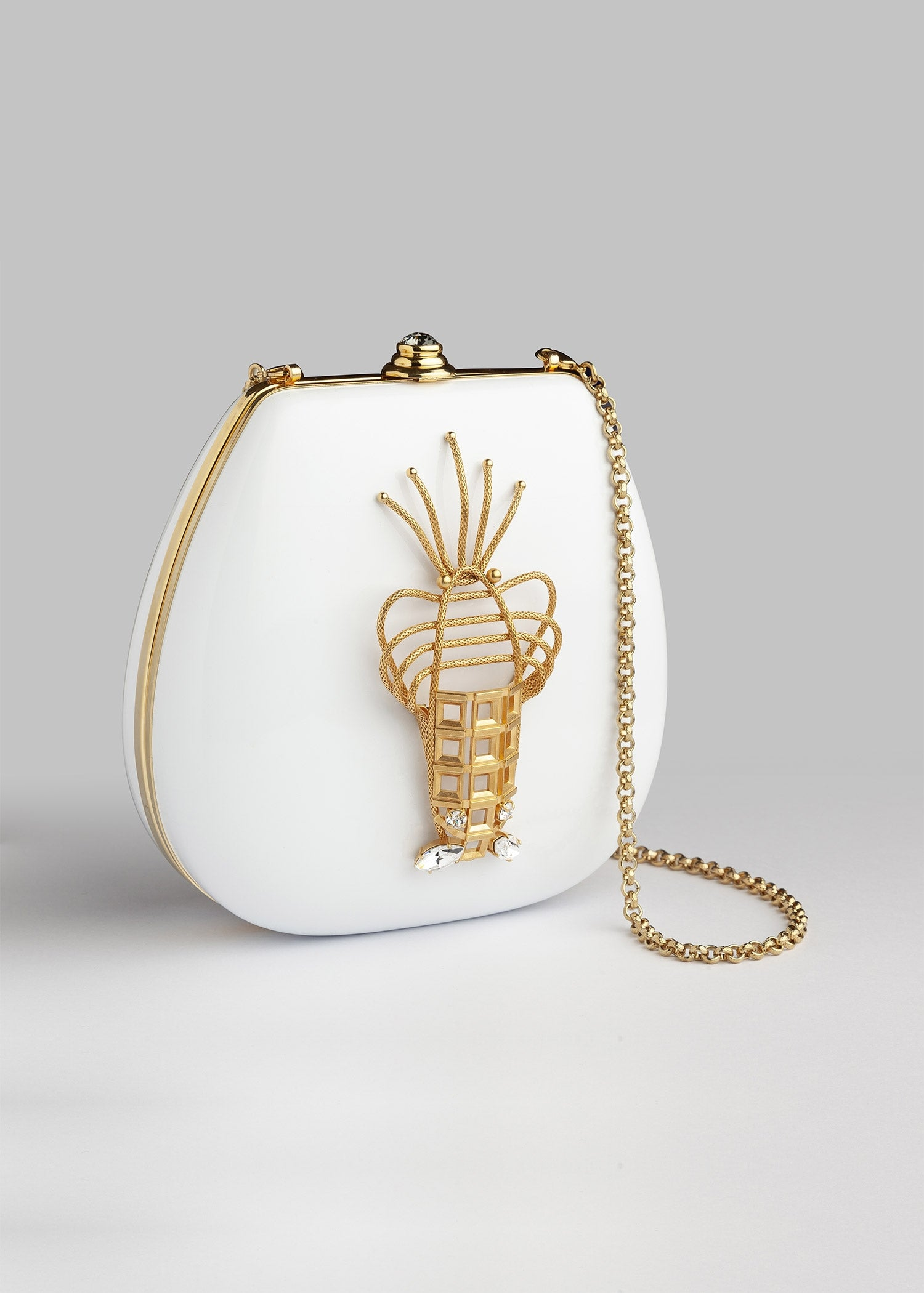 White Lobster Luxury Evening Bag
