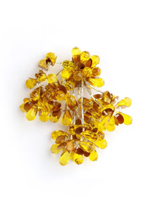 Yellow Pom Pom Costume Brooch