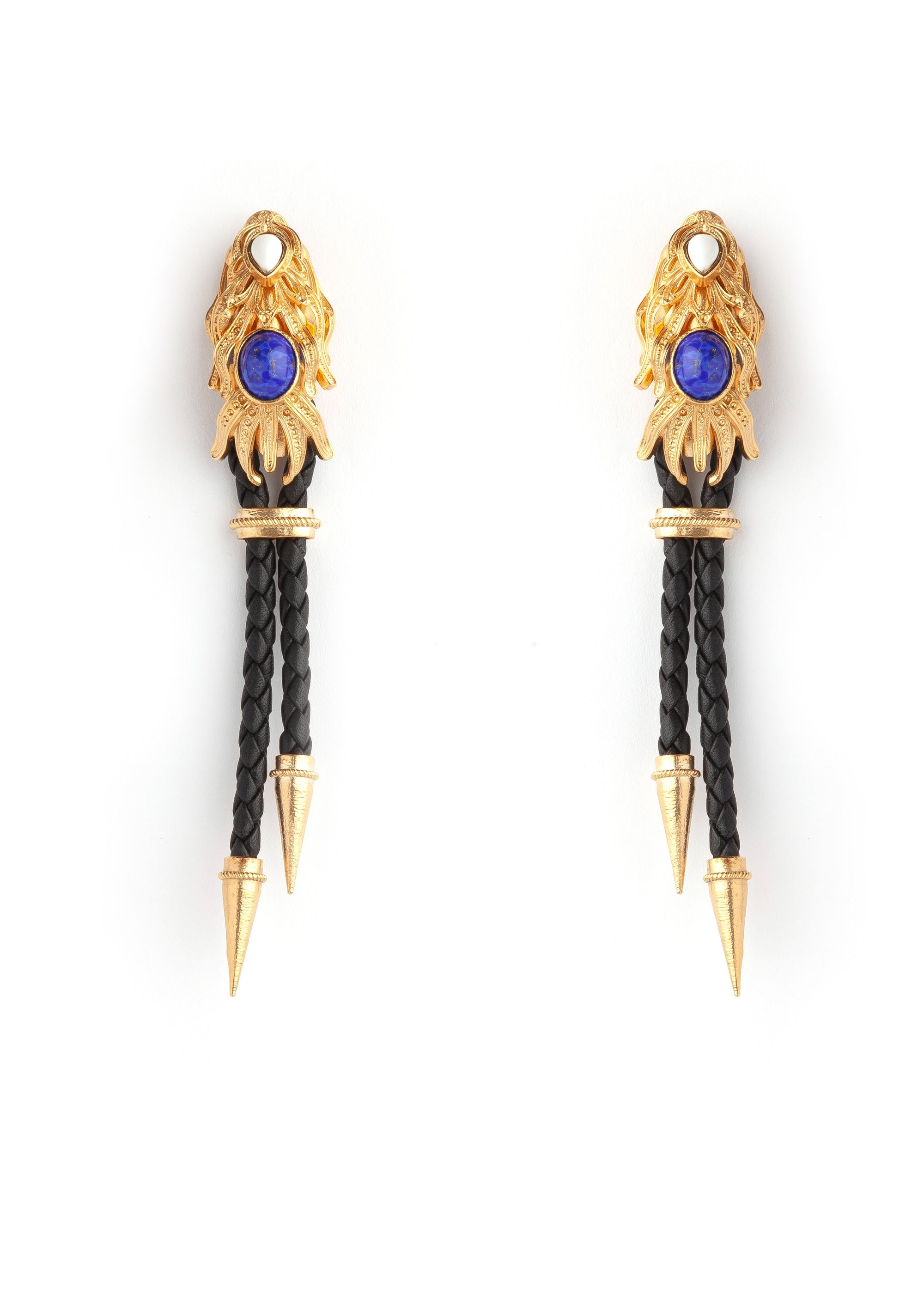 Black Gold Dragonfish Luxury Earrings