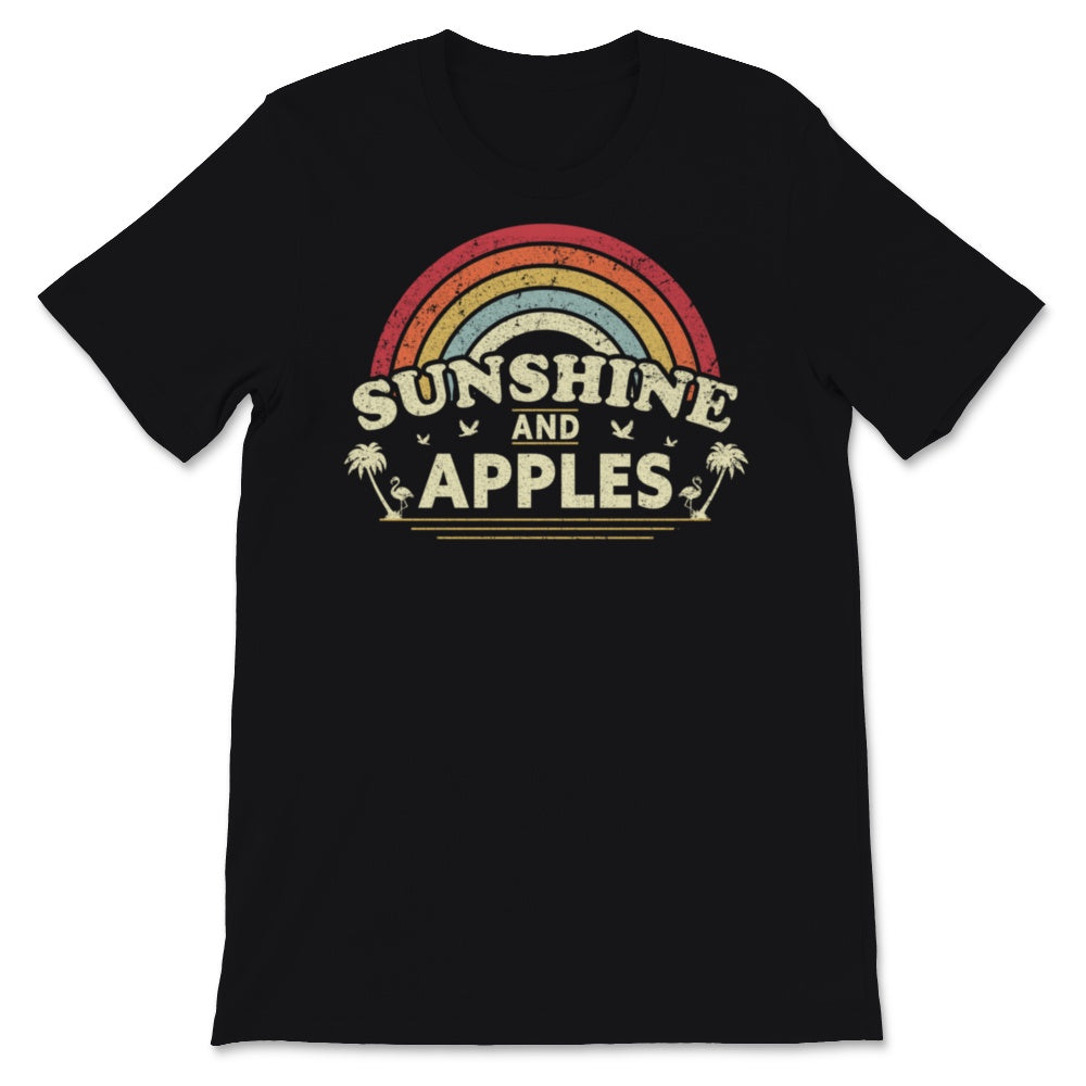 Sunshine And Apples product for Men and Women. Retro, Unisex T-Shirt