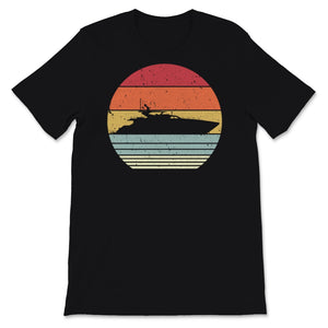 Yacht Print. Retro Style Boat Graphic Unisex T-Shirt