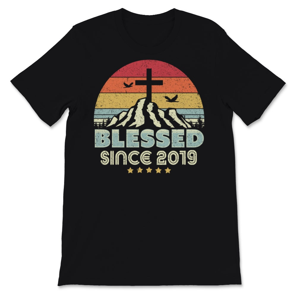 Blessed Since 2019 Print. Vintage, Christian Birthday Unisex T-Shirt