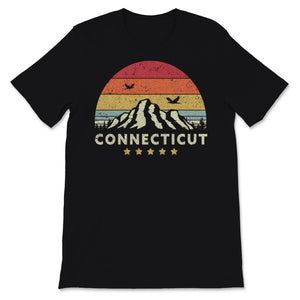 Connecticut Product. Retro Style CT, USA Print Unisex T-Shirt