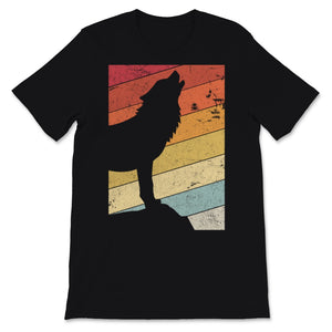 Wolf Design. Retro Style Product Unisex T-Shirt