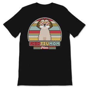 Shih Tzu Mom Product. Retro Style Print Unisex T-Shirt