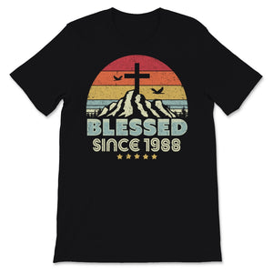 Blessed Since 1988 Design. Vintage, Christian Birthday Unisex T-Shirt