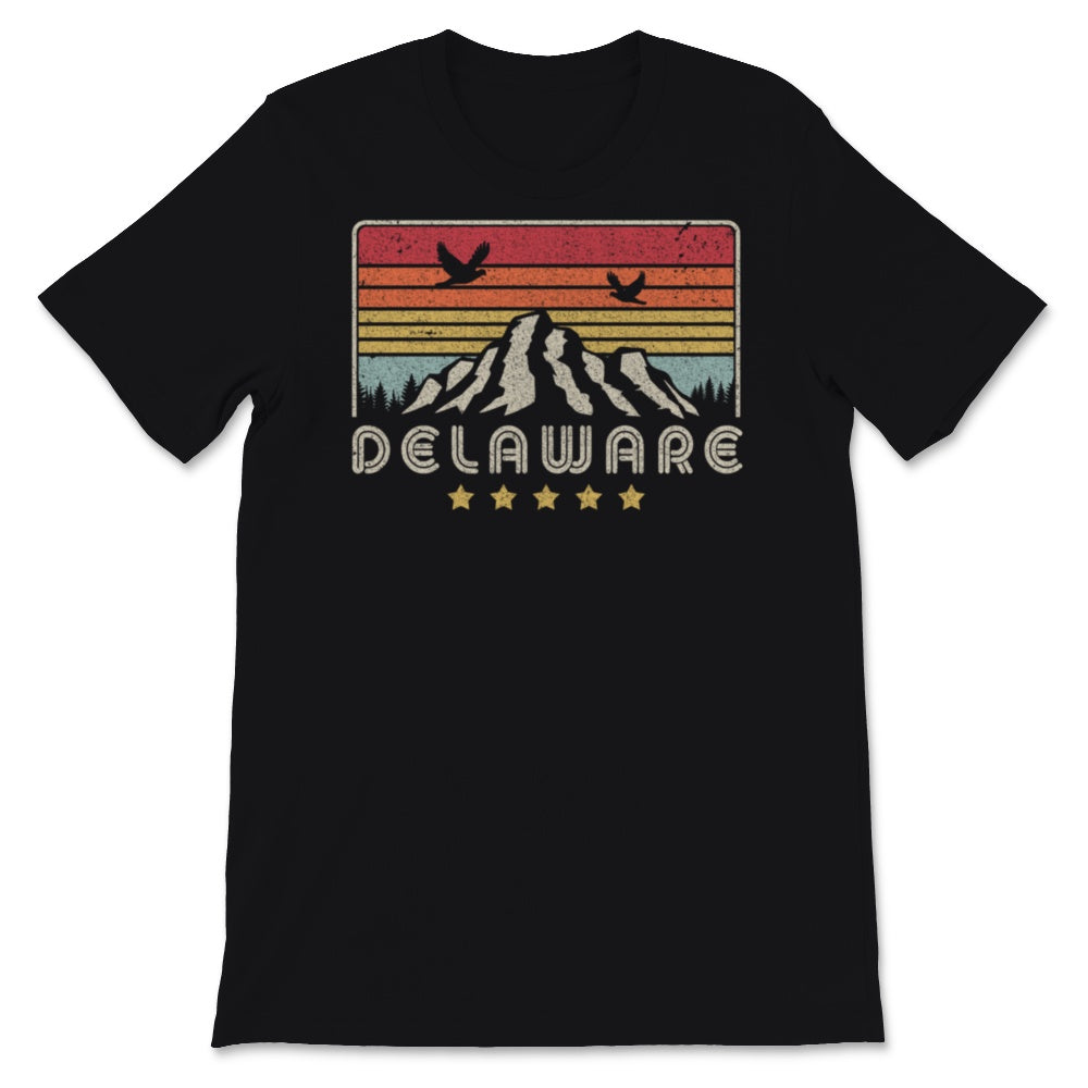 Delaware Design. Retro Style DE, USA Product Unisex T-Shirt