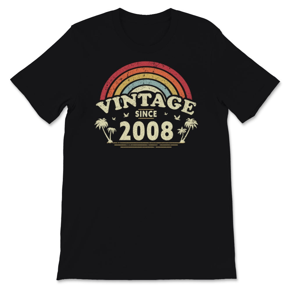 Vintage Since 2008, Birthday Gift For Men And Women, Unisex T-Shirt