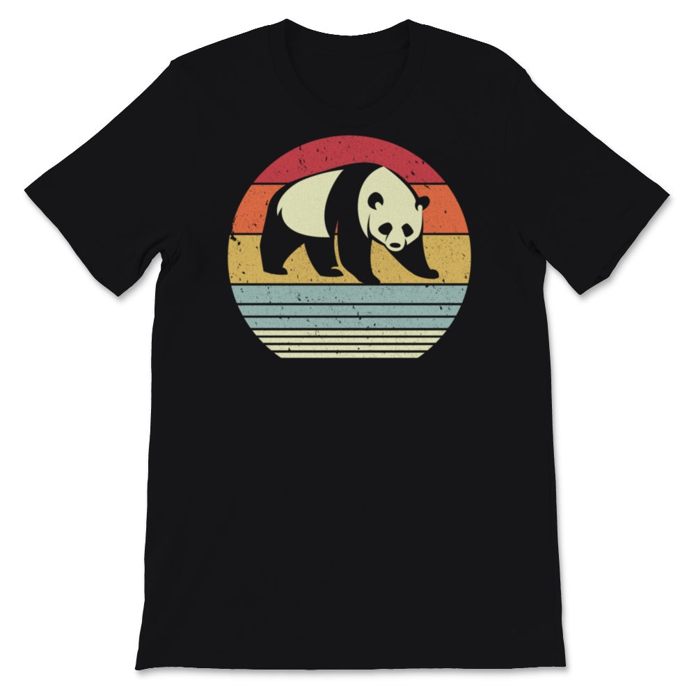 Panda Design. Retro Style Product Unisex T-Shirt
