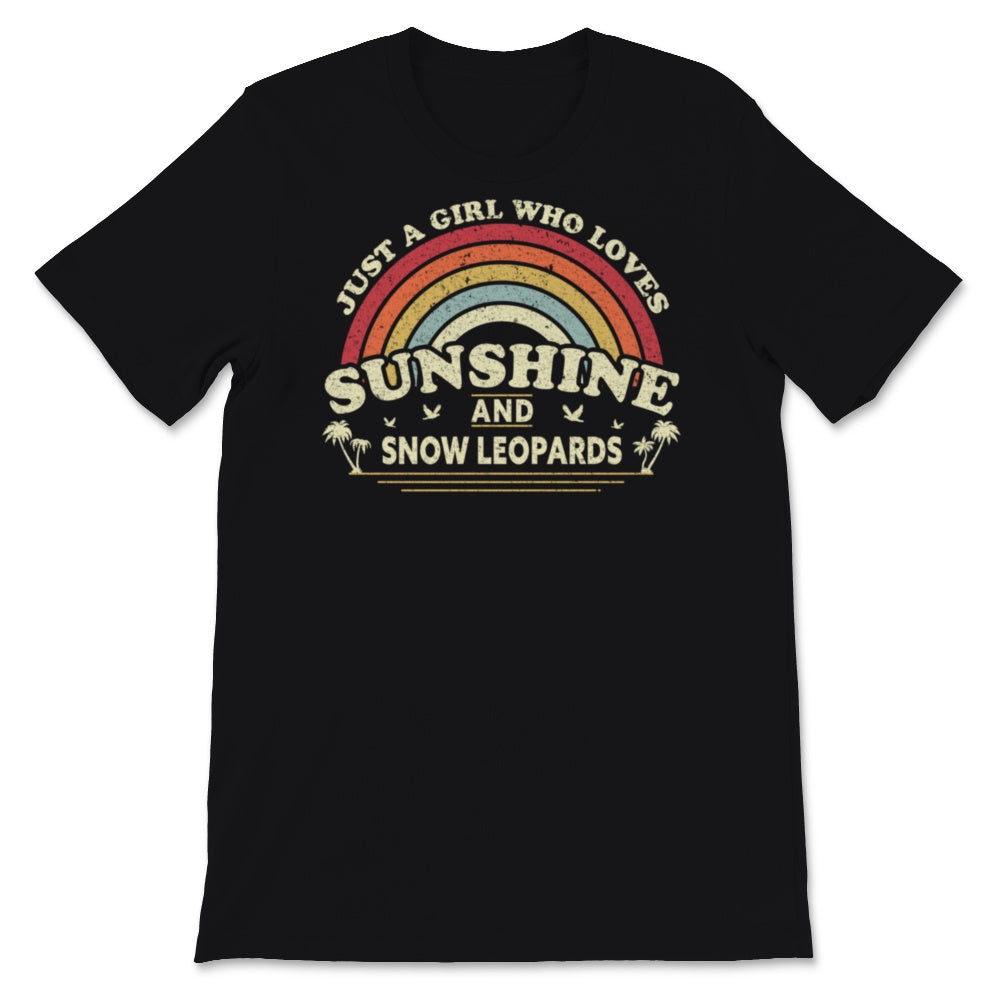 Snow Leopard Product. Girl Who Loves Sunshine, Snow Unisex T-Shirt