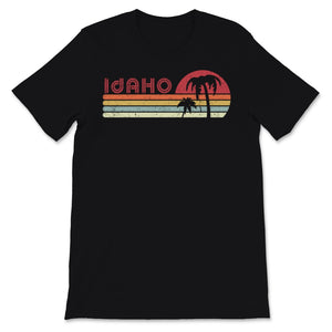 Idaho Print. Retro Style ID, USA Graphic Unisex T-Shirt