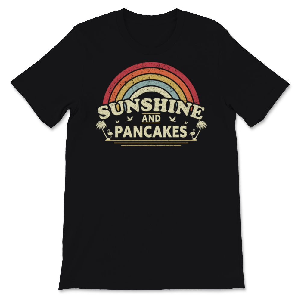 Sunshine, Pancakes print for Men or Women. Retro, Unisex T-Shirt