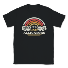 Load image into Gallery viewer, Alligators Shirt, Less People More Alligators, Funny Vintage Style