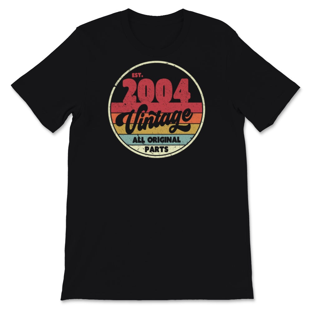 16th Birthday Gift Design. Classic, Vintage 2004 Unisex T-Shirt