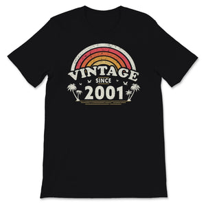Vintage Since 2001, Birthday Gift For Men And Women, Unisex T-Shirt