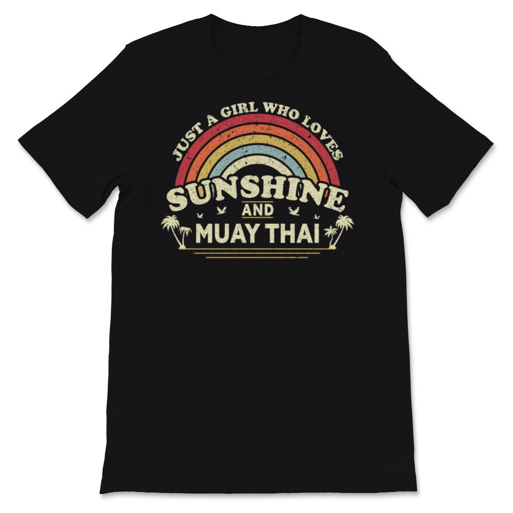 Muay Thai graphic. A Girl Who Loves Sunshine And Muay Unisex T-Shirt