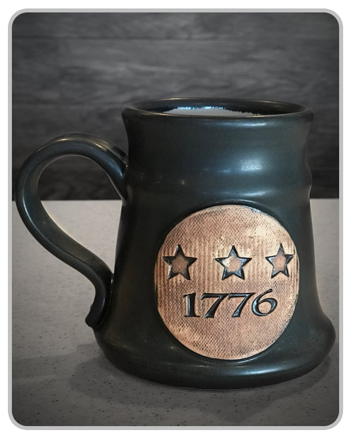 Black - Bell - 1776 - Mug - USA Handcrafted