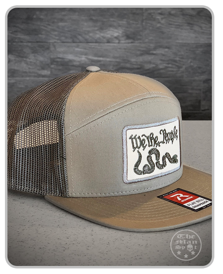 "Loden ""We the People"" SnapBack 7 Panel Hat"