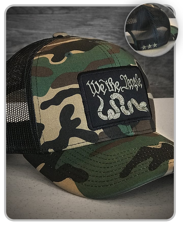 "Camo (Non MulitCam) ""We the People"" Snapback Hat"